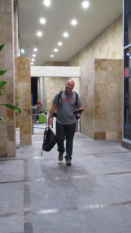 Dave arriving back to Mexico