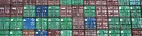 This weeks banner - containers stacked at the Colon Port